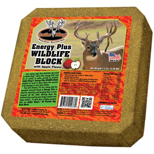 20LB KING Hunters Antler Big Buck Deer Apple Feed Block Attractant Nutrient Food