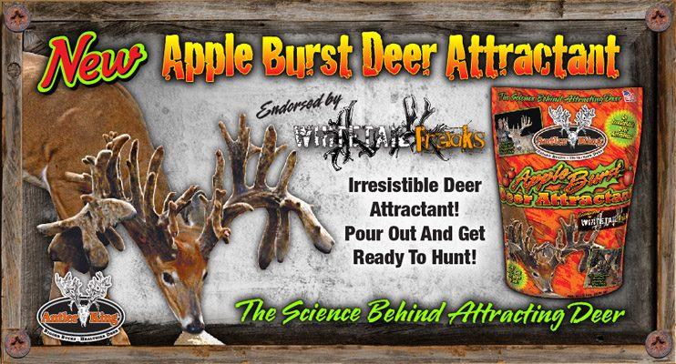 Antler King Apple Burst Attractant is designed to attract deer from long distances with its distinct apple aroma and flavor and provide them high levels of protein and energy to keep them strong and healthy and keep them coming back day after day.  Tear open a bag and see the results for yourself!