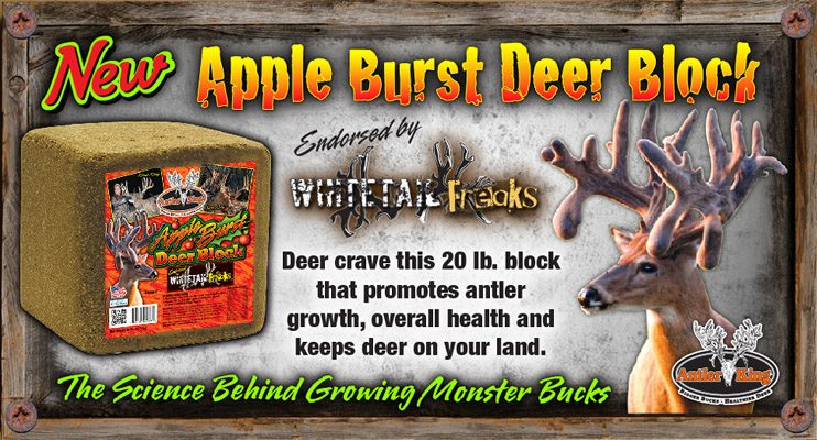 The Antler King Apple Burst Block offers the best in long range attraction and nutrition, as it offers intense apple aroma along with a power packed combo of minerals and vitamins to help improve immune system health, disease prevention and antler growth.