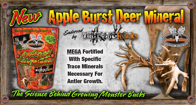 Antler King Apple Burst Deer Mineral provides all the necessary major and trace minerals deer need to improve immune system health, help prevent disease and maximize body/antler growth.  If you're serious about hunting deer, take your mineral program more serious with the only mineral product trusted by the Whitetail Freaks.