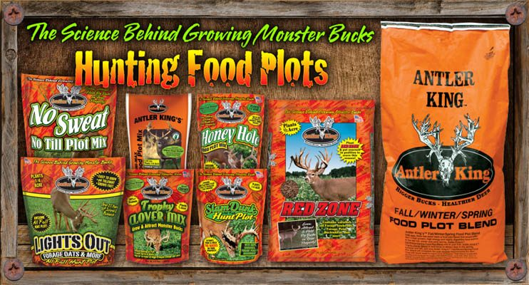 Antler King offers a full selection of Food Plots with the deer hunter in mind.  Whether you're looking for annuals or perennials or plots to plant in the spring or fall, we've got you covered will our full line of food plot seed, designed to improve nutrition and maximize attraction, no matter what time of year!