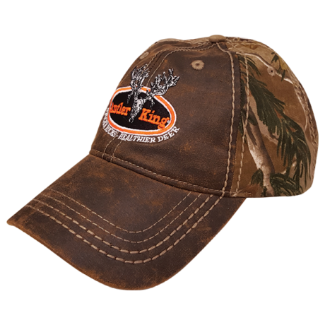 Antler King Camo/Leather Hat